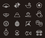 Japanese icons Royalty Free Stock Photography