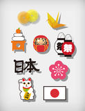 Japanese illustration Royalty Free Stock Photography
