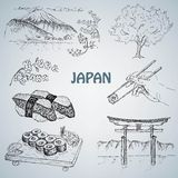 Japanese illustration Royalty Free Stock Images