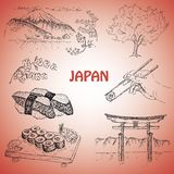 Japanese illustration Royalty Free Stock Photography