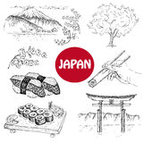 Japanese illustration Royalty Free Stock Photos