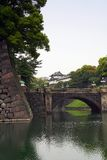 Japanese Imperial Palace. Bridge leading to the Imperial Palace, Tokyo stock photo