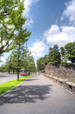 Japanese imperial palace boulevard Stock Photos