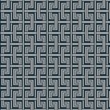 Japanese indigo geometric maze pattern Stock Illustration