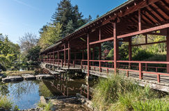 Japanese-inspired structure on Versailles island. In Nantes, France Royalty Free Stock Image