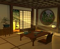 Japanese interior Royalty Free Stock Image