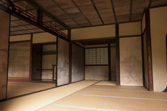 Japanese interior house walls decorated by Tanyu Kano Royalty Free Stock Image