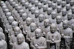 Japanese jizo sculptures Royalty Free Stock Photos