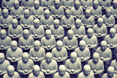 Japanese jizo sculptures Stock Images