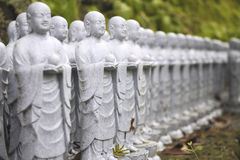 Japanese jizo sculptures Stock Photo
