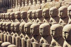 Japanese Jizo sculptures Stock Photo