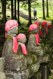 Japanese jizo statues Royalty Free Stock Photos