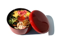 Japanese kaisen bento in the white Stock Photos