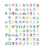 Japanese kana Royalty Free Stock Photos
