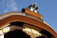 Japanese Karahafu roof. Traditional Karahafu gable in Nijo castle Kyoto Stock Image