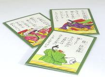 Japanese Karuta Cards Stock Photography
