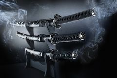 Free Japanese Katana Set Swords Stock Photos - 8500363