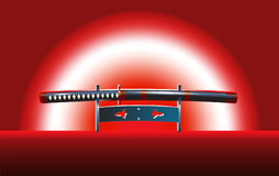 Japanese katana sword Stock Images
