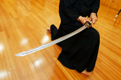 Japanese katana sword Stock Photo
