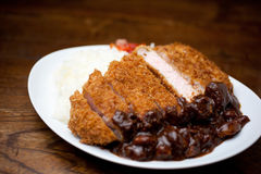 Japanese katsu karē (Curry) Stock Image