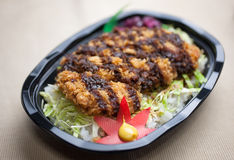 Japanese katsudon Bento Royalty Free Stock Images