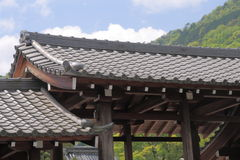 Japanese Kawara roof Stock Photography