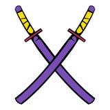 Japanese kendo sword icon, icon cartoon Royalty Free Stock Photos