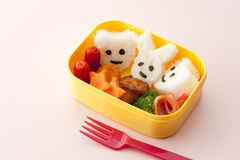 Japanese kids lunch box Royalty Free Stock Photos