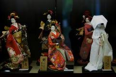 Japanese kimono. Tang culture affected by the Japanese kimono, from the Edo period to the Meiji Restoration, kimono style has the basic shape. Japanese kimono Stock Images