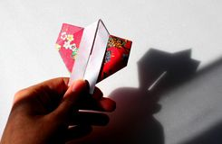 Japanese kimono origami. There is a Japanese kimono origami picture Royalty Free Stock Image