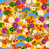 Japanese kimono pattern. Seamless pattern of traditional japanese kimono vector illustration
