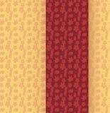 Japanese kimono pattern vertical banner Stock Image