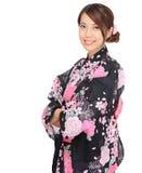 Japanese kimono woman Royalty Free Stock Image