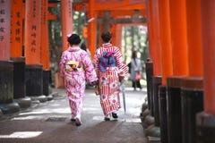 Japanese kimono Royalty Free Stock Photography