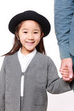 Japanese kindergartener walking to kindergarten wi Royalty Free Stock Image