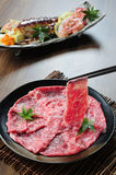 Japanese Kobe beef slice Stock Photo
