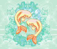 Japanese koi background Royalty Free Stock Photo