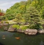 Japanese Koi Carp Pond Stock Photo