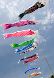Japanese koi nobori blowing in the wind Stock Photos
