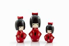 Japanese kokeshi dolls. Stock Images