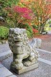 Japanese Komainu Male Foo Dog Sculpture Stock Photos