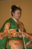 Japanese lady in kimono, Tokyo, Japan Stock Photography