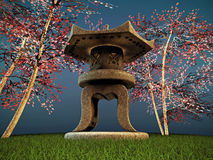 Japanese lamp Royalty Free Stock Photography