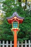 Japanese lamp pole Stock Images