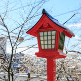 Japanese lamp pole Royalty Free Stock Images