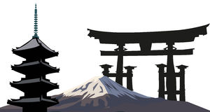 Japanese Landmarks Stock Images