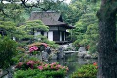 Japanese landscape garden stock photography