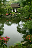 Japanese landscape garden Royalty Free Stock Photo