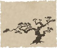 The Japanese landscape silhouette vector. Eps illustration Royalty Free Stock Photo