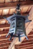Japanese Lantern. Hanging on the Wood Ceiling Stock Image
